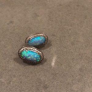Kendra Scott blue opal studs
